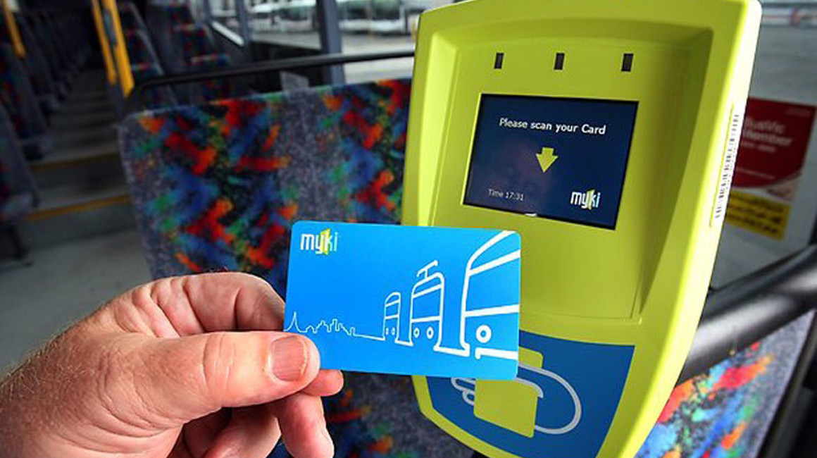 Example of a Myki card reader on a tram